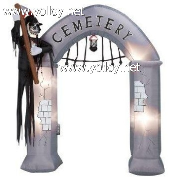 9 Ft Halloween Airblown Inflatable brand Archway Gate holiday decorations