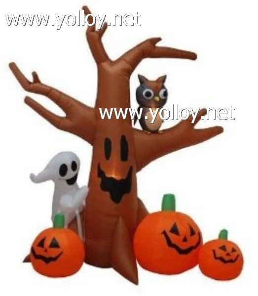 2013 new decorations 8 Foot Halloween Inflatable Ghost Tree Owl (4 Pack)