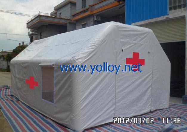 medical tent inflatable during disaster