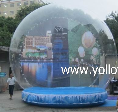 large inflatable life size snow globes