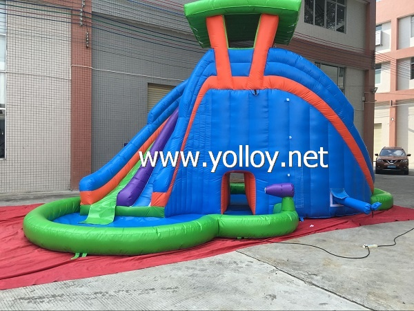 Hot Sale Inflatable Water Slide with Pool