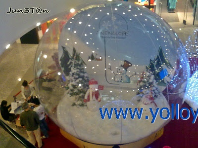 transparent snow dome for Christmas party event