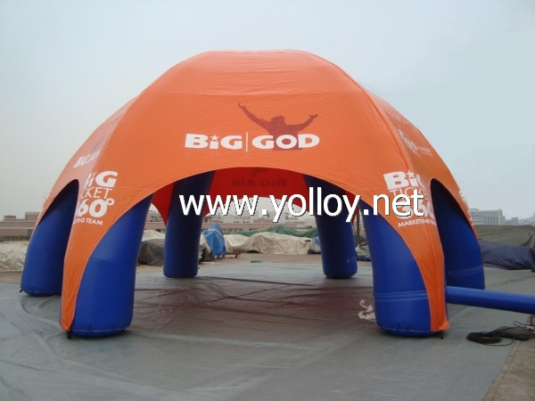 Inflatable spider dome for promotion event