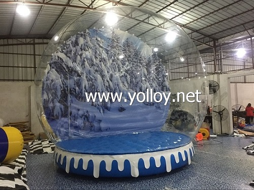 Hot sale inflatable snow ball for taking photos