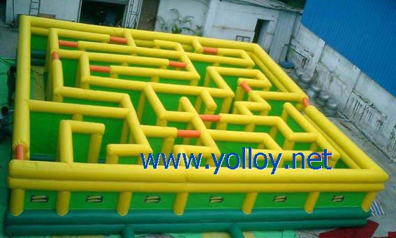 laberinto inflable interactivo