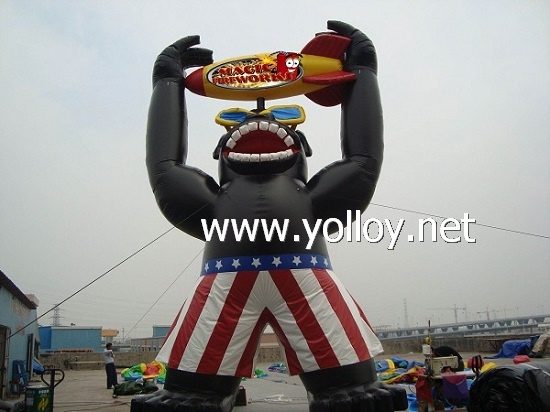 Inflatable gorilla balloon
