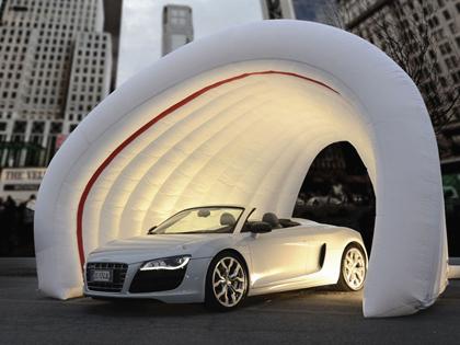 Nadmuchiwany namiot samochodowy na pokaz