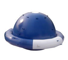 inflatable seasaw in blue