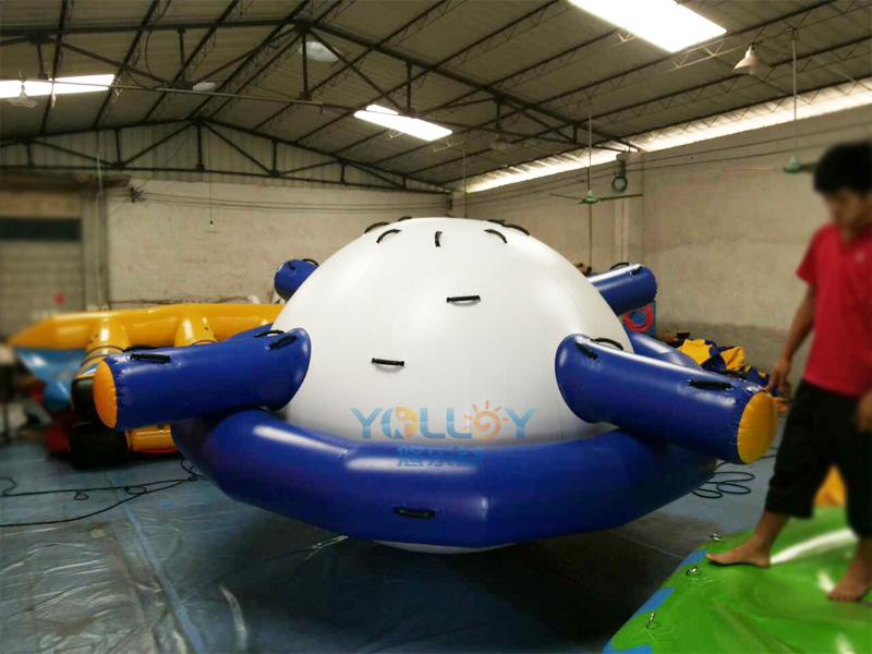 inflatable saturn rocker in blue