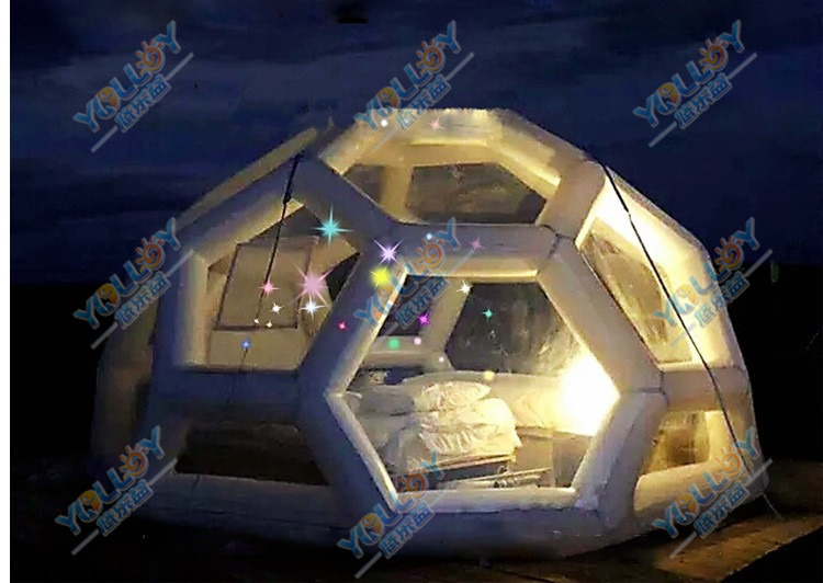 Starry night transparent inflatable bubble tent