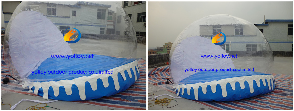How to inflatable snowglobe?