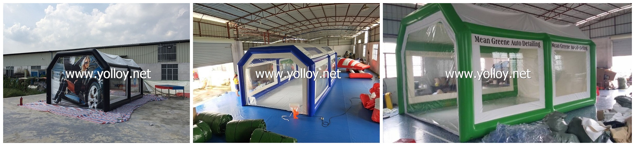 inflatable tent for car care