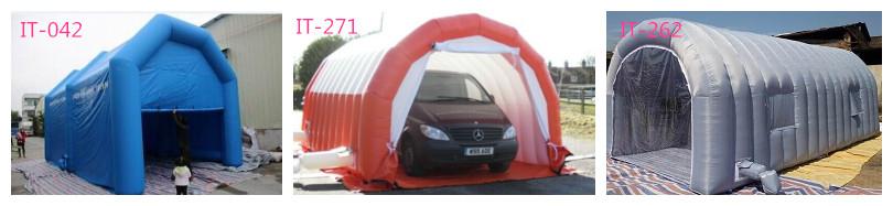 Portable inflatable garage
