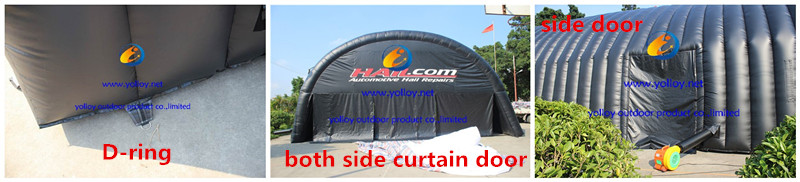 automotive hail repair tent