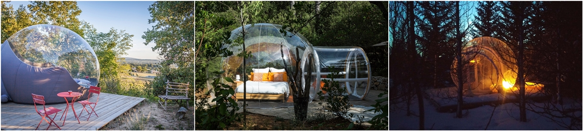 transparent inflatable bubble room