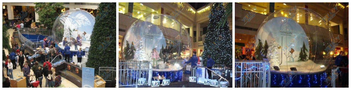 Inflatable snow globe for Show time