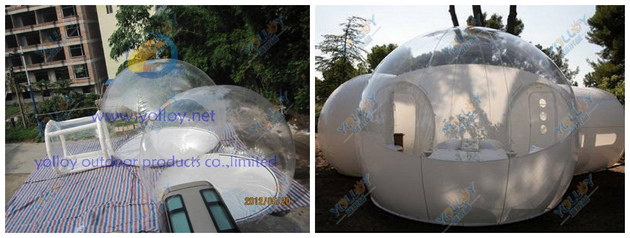 many shapes of the inflatable bubble tent