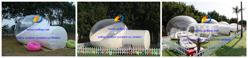 How do inflatable bubble tents work?