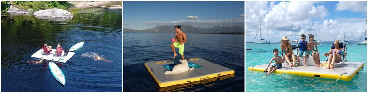 inflatable floating dock