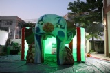 Mad clown inflatable cube tent with LED light