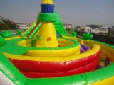 Inflatable 8 Words Obstacle Bouncy Slide Combo For Sport Games