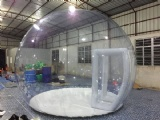 Inflatable snow globe for party exhibition