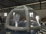 Inflatable clear spider dome for party camping
