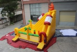 Funny Inflatable kangaroo Jumping Bouncer Middle Size Slide