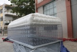 Inflatable clear transparency cube tent