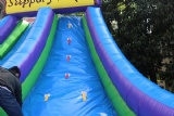 Inflatable slippery slope game