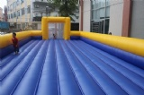 Inflatable soap football field with inflatable floor