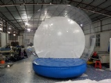 Human size Halloween snow globe with inflatable base