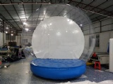 snowglobe with inflatable base