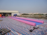 Air Sealed Inflatable Slip N side, Inflatable Water Slides For Lake