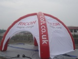 Inflatable dome tent for advertising