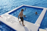 Floating swimming pool for yacht