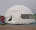 White mobile inflatable outdoor party dome tent
