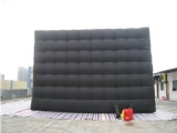 black mobile inflatable cube tent