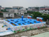 big inflatable labyrinth game for commerical use