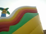 Dinosaur Allosaurus in jungle inflatable slide
