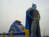 batman inflatable slide with obstacles course combo