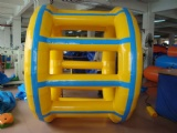 Inflatable water roller wheel game for commercial rental