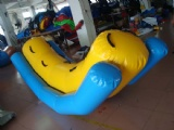 Inflatable water totter teeter for water sports splash