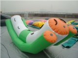 Inflatable water totter teeter