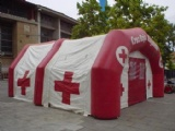 Inflatable relief mobile hospital tent for emergency