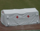 Mobile air tight inflatable emergency tent for first aid