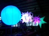 mobile inflatable spheres ball decoration lighting