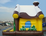 Inflatable cabin jumping bouncy house for kids party