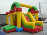 Inflatable bouncy castle with slide moonwalk