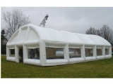Airtight inflatable white tent
